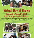 Save the Date! Virtual Day at Brown