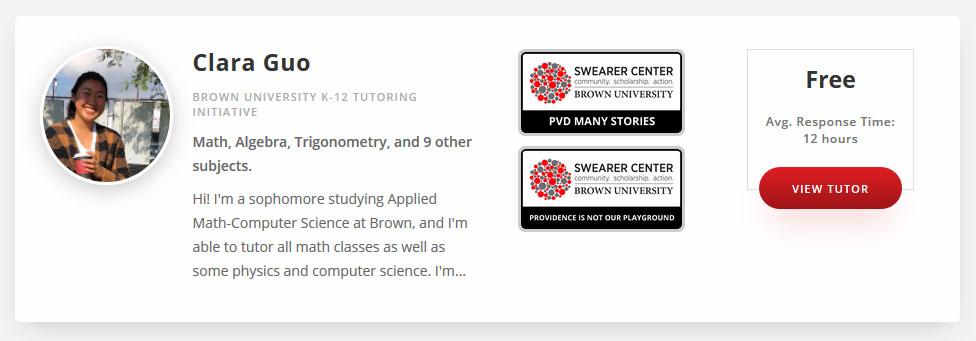 Brown University Online Tutoring
